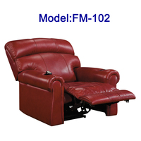 FM-102 Electric leather reclining home cinema chair sofa with cup holder