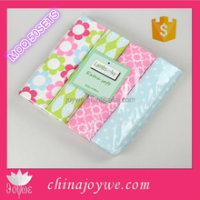 Knitted wholesale 100% Organic Cotton Flannel Receiving / Swaddle Blanket