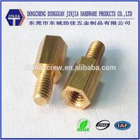 china cheap custom CNC brass m3 male female screw fasteners