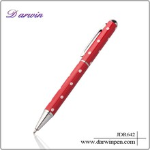 Promotional pen with logo ball pen for office&school/hotel metal red color ball pen