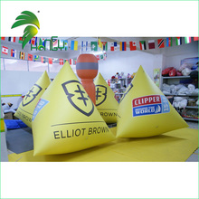 PVC sports Commercial logo triangle Inflatable Water Buoy