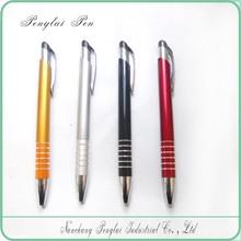 Silver Click Pen,Fine Pen,Click Plastic Ball silver pen 2015