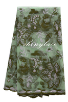 Latest irish organza embroidery lace fabric
