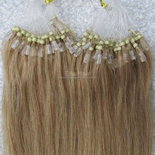 Double Drawn 100% Human Remy Hair Micro Bead Ring Hair Extensions for European women