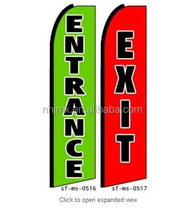 Two (2) Entrance & Exit Feather Banner Flags