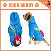 New design Blue color with backpack Cat pattern wholesale pet dog clothes for dog supplies