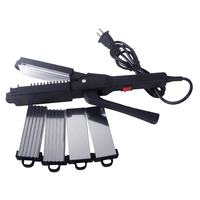 Brand Hair Straightening Irons Flat Iron Styling tools Wholesale Four Replace Corrugated Iron Plate 220-240V ZF-3289 MF0010