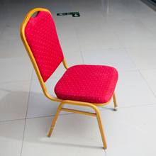 factory direct red fabric modern banquet dining chair