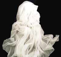 Personalized plain White silk scarves for dyeing