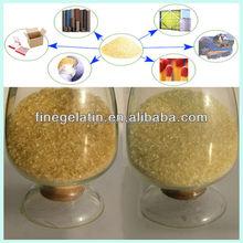 Bonne qualité technique fabricants de gélatine / gélatine de peau de porc / colle de peau de gélatine usine