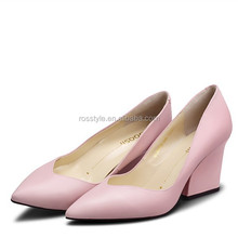 2014 spring genuine leather wedge images high heel shoes for lady