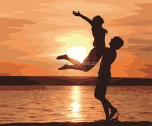 SUNRISE WOMEN AND MEN DANCE NAKED OIL PAINTING COM