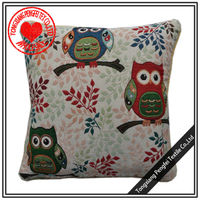 Three small owl decorative cushion cover for sofa bed room etc