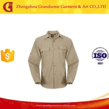 Polyester Long Sleeve Quick Dry Fishing Shirts