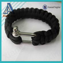 China wholesale cheapest paracord 550 survival bracelet for sale