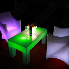 glowing cocktail tables/ led bar table glowing outdoor cocktail tables