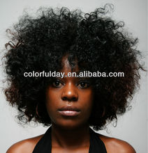 100% Virgin Human Hair Braided Afro Curl Wig Short Afro Curl Wig For Black Women