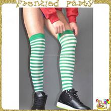 Men knee sock stripe christmas stocking FGH-0130