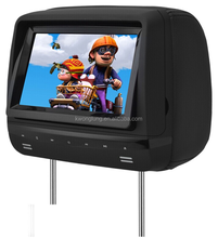 lcd 7 inch touch button headrest car dvd , 7'' car dvd player with sd usb slot,car dvd player