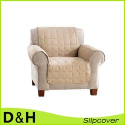 anti-slip quilt micro suede chair loveseat sofa cover
