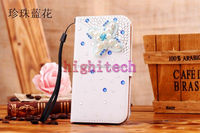 Luxury Bling Diamond Buckle Magnetic Wallet Leather Flip Cover Stand Case for iPhone 5 5S