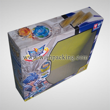 Toy boxes with instructions and insert color card
