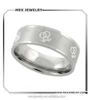 Stainless Steel Gay Symbols Ring 8mm Wedding Band 316l Stainless Steel