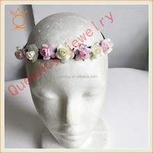2012 fashion korean hair accessory with rhinestone and elastic