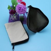 Cute Wallet Jute Bag Printing with Zipper