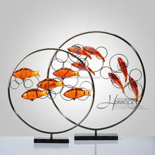 """22.05""""High quality resin big size floating fish ornaments"""