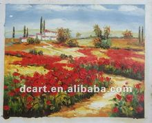 Artist Flower Mountain Fabric Painting