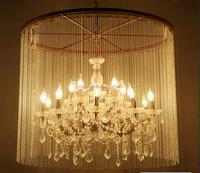 E12 E14 LED candle bulb lamp /bead curtain with crystal pendant light