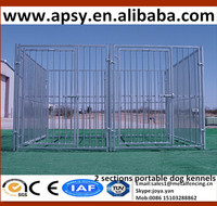 2015 new design fashion fence animals playpens solid assembled zoo used pet cages square tube frame 2 sections dog run kennels