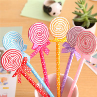 America latest ballpoint pen parts stationery items ,Cute Candy design plastic pens ballpoint famous brands