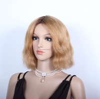 Beyonce Bob Style Ombre Color Virgin Brazilian hair Lace Front Wig