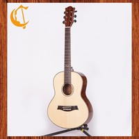 musical instrument 36 inch round Acoustic guitar natural color