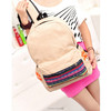 National style canvas backpack female institute European and American fashion style trendy male and female students backpack