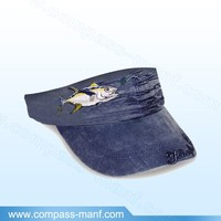 2015 New Hot Unisex Embroidery Vivid Fish Denim Visor Sun Caps