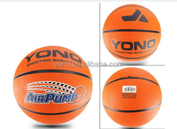 2015 YONO Factory price rubber basketball high quality OEM custom logo