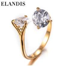ELANDIS fashion jewelry wholesale diamond ring silver zircon wedding ring
