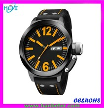 2015China wholesale big face TW quartz stainless steel water resistant d watch