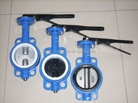 Double flanged double eccentric rubber seated butterfly valve
