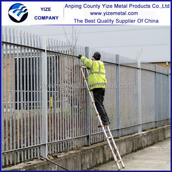 Steel palisade fence panels high security