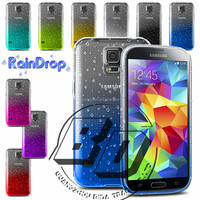 Fashionable Popular Raindrops Transparent Clear Gradient TPU Soft Phone Case For Samsung Galaxy S5 mini fast delivery