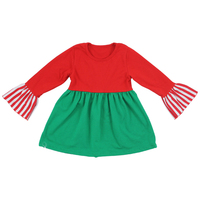 Wholesale baby children fall winter long sleeve red green Christmas fashion baby fancy frock designs for girls 2015 xmas designs