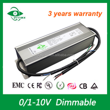 0-10v dimmable waterproof IP67 constant voltage 12v 150w led driver