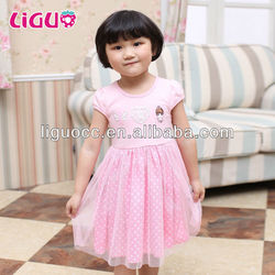 Kids summer clothing baby girls smocked dress wholesale children clothes