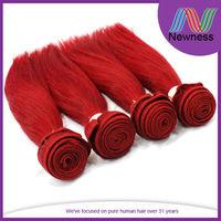 free shiping 100% virign hair 5a grade 100% human cheap burgundy red hair