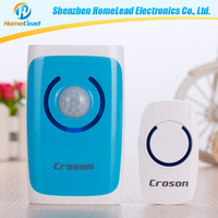 New design anti-theft blue lighting doorbell wireless with 36 music