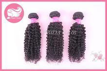 Factory hot sell kinky curl remy velvet hair weave